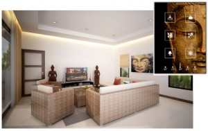Inside a luxury house